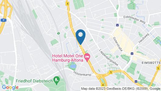 Aparion Apartaments Hamburg Map