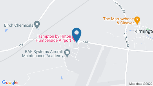 Hampton by Hilton Humberside Airport Map