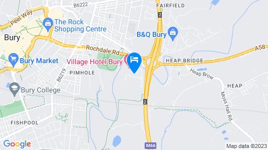 Village Hotel Manchester Bury Map