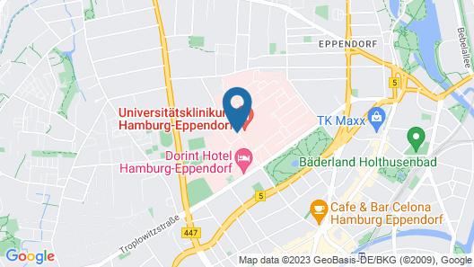 Dorint Hotel Hamburg-Eppendorf Map