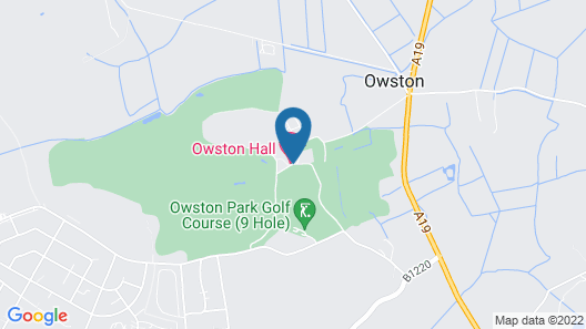 Owston Hall Hotel Map