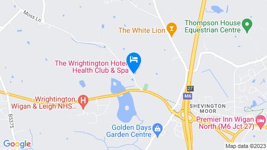 The Wrightington Hotel & Health Club Map
