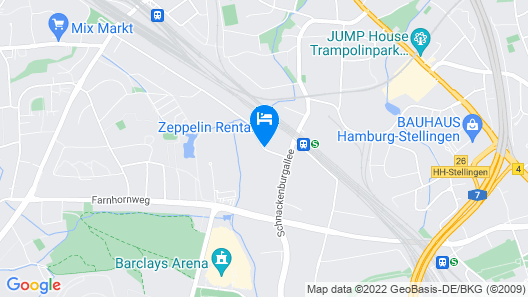 Arena Hostel Hamburg Map