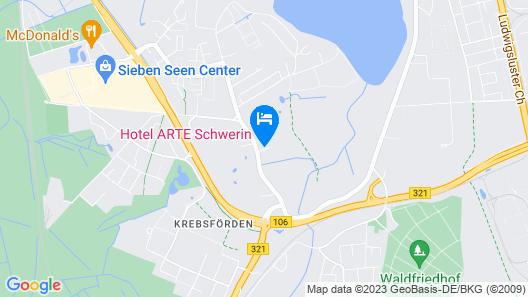 Hotel ARTE Schwerin Map