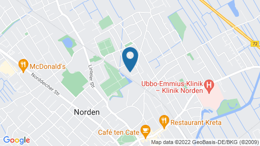 Hotel Ostfriesland Map