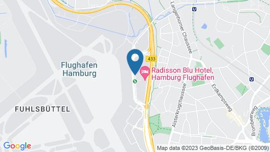 Radisson Blu Hotel, Hamburg Airport Map