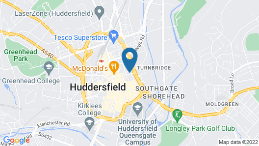 The Huddersfield Hotel Map