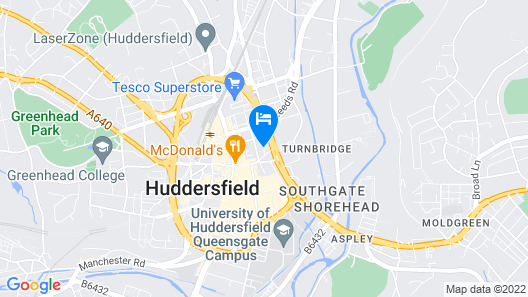 Huddersfield Central Lodge Hotel Map