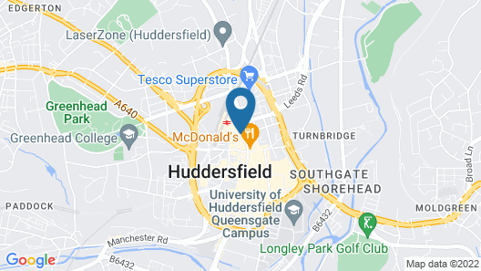 Lux Aparts Huddersfield Central Map