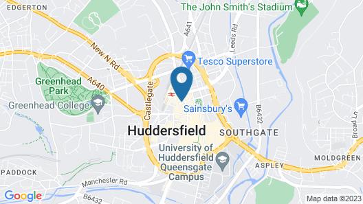 Hotl Aparts Huddersfield Central Map