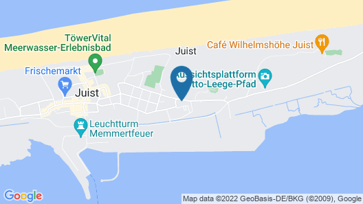 Dream Vacation on Juist Apartment With Gem. Fitness and Sauna Area Map
