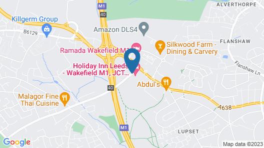Holiday Inn Leeds Wakefield M1 J40 Map