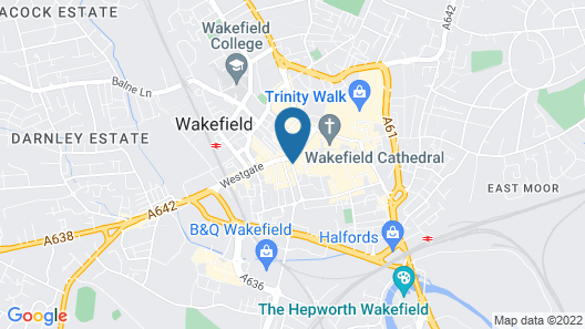 Holiday Inn Express Wakefield Map