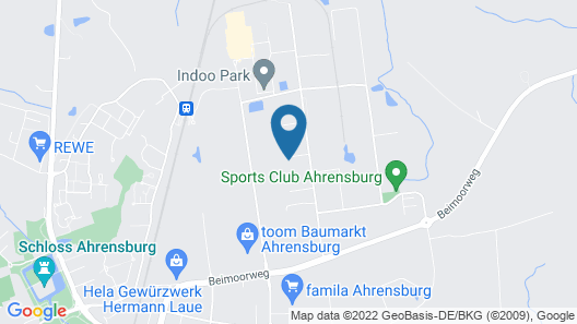 Fischers Pension Ahrensburg Map