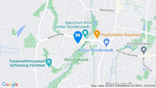 PLAZA Premium Parkhotel Norderstedt Map