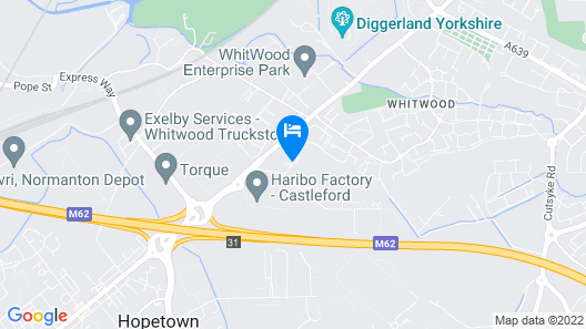 Hotel Castleford by Accor M62 J31 Map