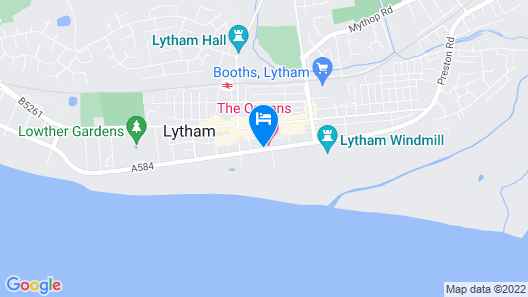 The Queens Hotel Lytham Map