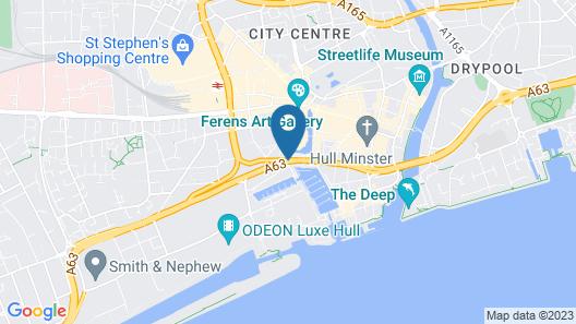 Holiday Inn Hull Marina Map