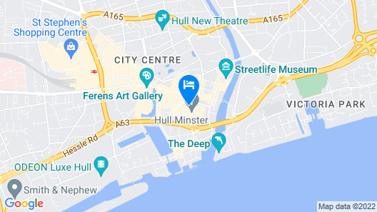 Hideout Apartment Hotel Map