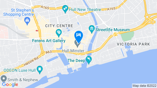 Hull Trinity Guest House Map