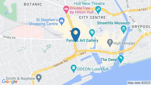 Ibis Hull City Centre Map