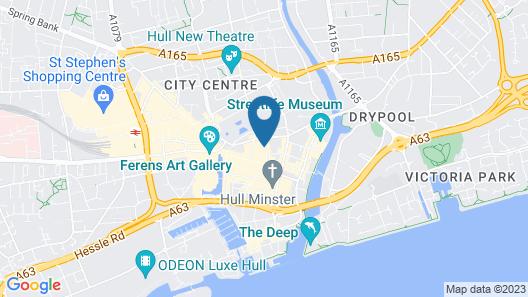 Burlington Hotel Hull City Centre Map