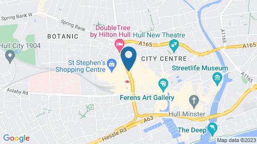 Holiday Inn Express Hull City Centre Map