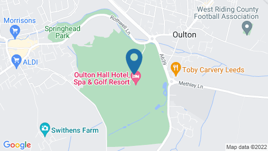 Oulton Hall Map