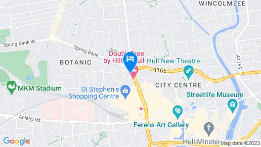 Doubletree by Hilton Hull United Kingdom Map