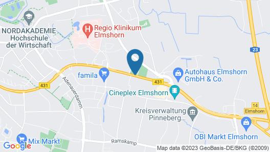 Novum Hotel Sportlife Elmshorn Map