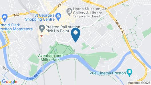 Apartments  No 34. Great Avenham Map