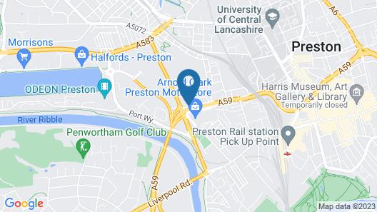 Legacy Preston International Hotel Map