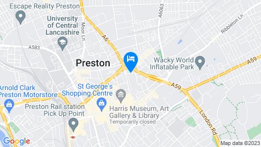 Holiday Inn Preston Map