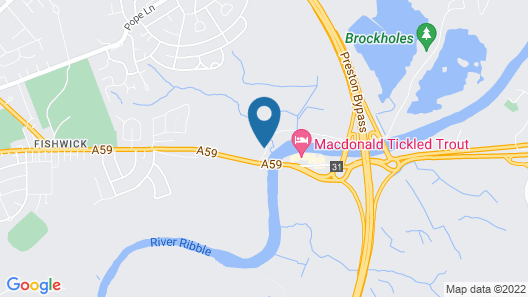 Macdonald Tickled Trout Hotel Map