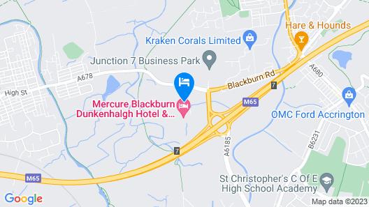 Mercure Blackburn Dunkenhalgh Hotel & Spa Map