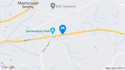 Samlesbury Hall Map