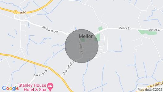 Cozy Mellor Village Cottage Map