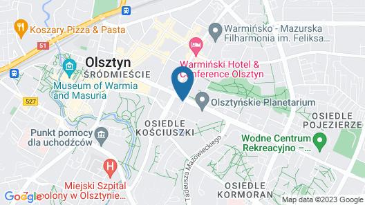 Hampton by Hilton Olsztyn Map