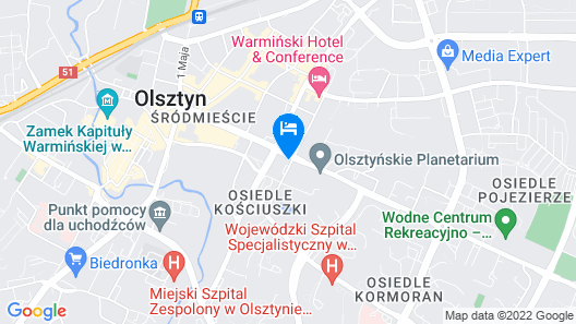 Hampton by Hilton Olsztyn Map