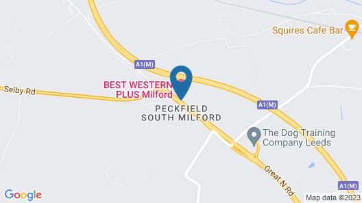 Best Western Plus Milford Hotel Map
