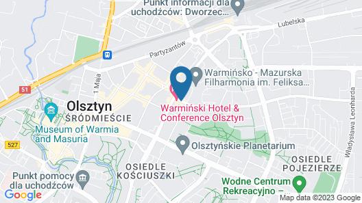 Warmiński Hotel & Conference Map