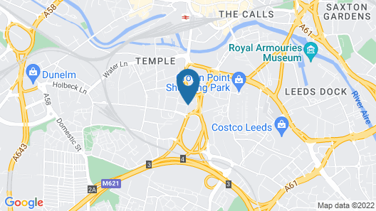 Clayton Hotel Leeds Map