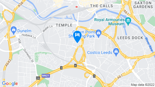 Clayton Hotel Leeds Map