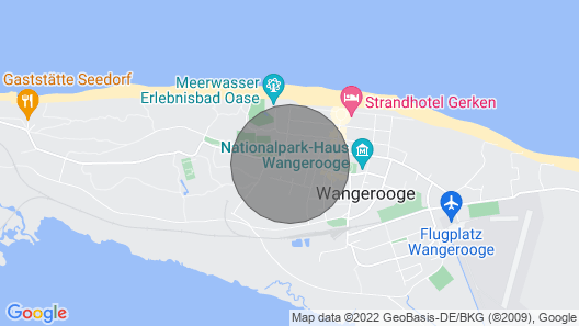 Eiland Wangerooge, exclusive apartment with balcony Map