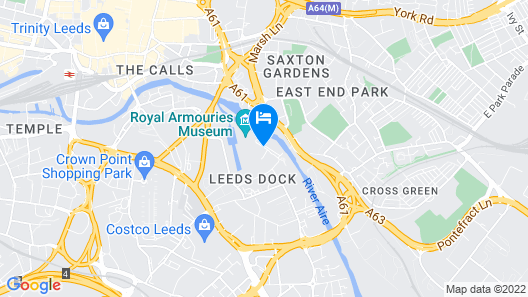 Holiday Inn Express Leeds City Centre Armouries Map