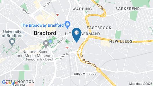 Holiday Inn Express Bradford City Centre Map
