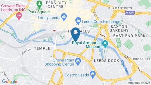 Kspace Serviced Apartments Leeds Map