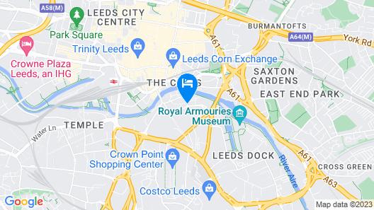 Jurys Inn Leeds Map