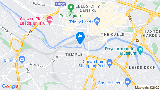 DoubleTree by Hilton Hotel Leeds City Centre Map