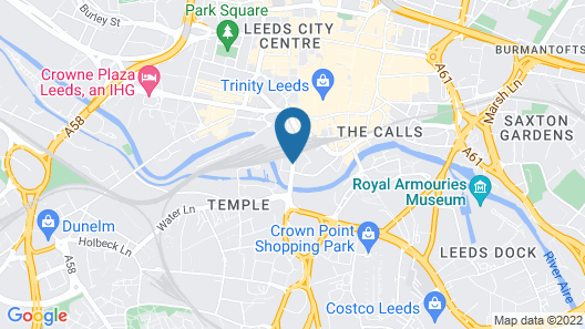 Hilton Leeds City Hotel Map